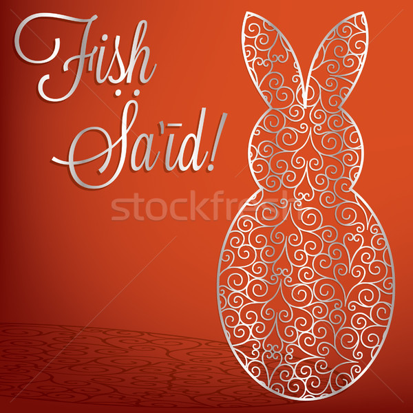 Filigree bunny 'Happy Easter' card in vector format Stock photo © piccola