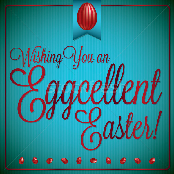 Retro vintage style Easter card in vector format. Stock photo © piccola