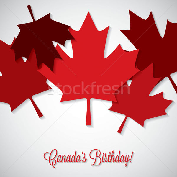 Overlay leaf Canada Day card in vector format. Stock photo © piccola