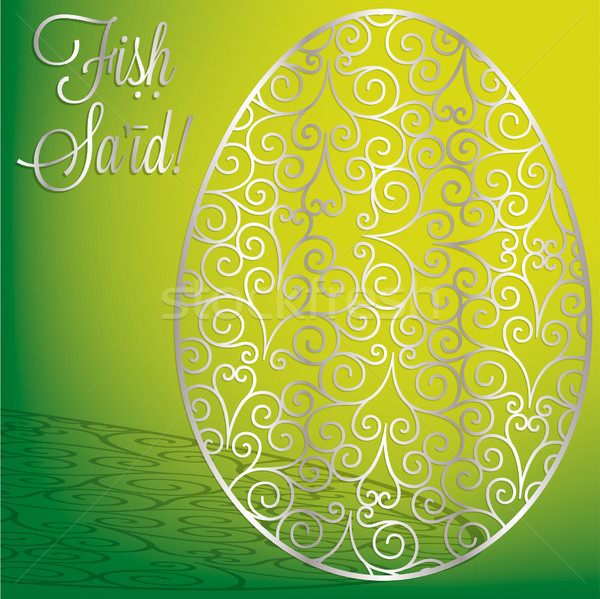 Filigree egg 'Happy Easter' card in vector format Stock photo © piccola