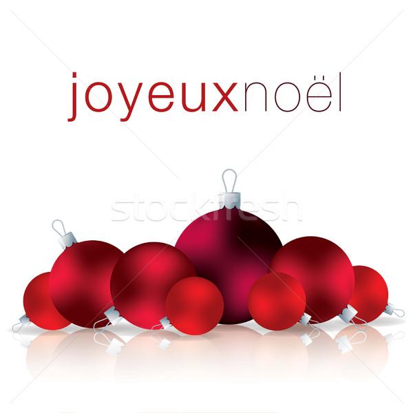 Fransız neşeli Noel önemsiz şey kart vektör Stok fotoğraf © piccola