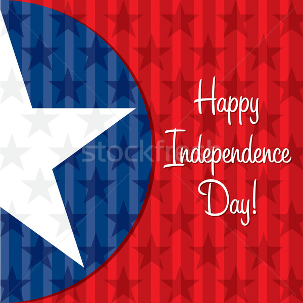 Happy Independence Day star card in vector format. Stock photo © piccola
