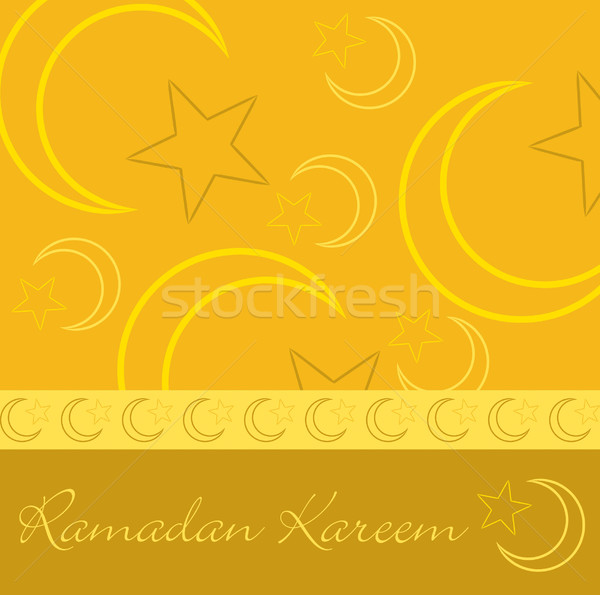Dessinés à la main ramadan généreux carte de vœux vecteur format Photo stock © piccola