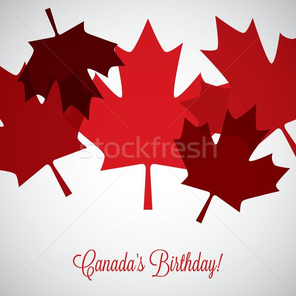 Liści Kanada dzień karty wektora format Zdjęcia stock © piccola