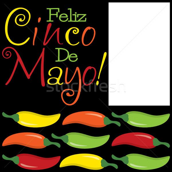 Funky Cinco De Mayo card in vector format. Stock photo © piccola