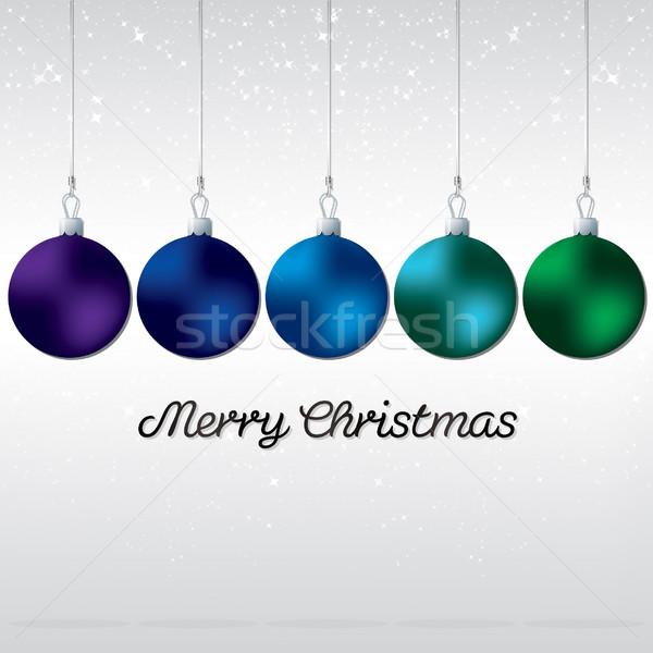 Stock fotó: Egyszerű · elegáns · csecsebecse · karácsonyi · üdvözlet · vektor · formátum