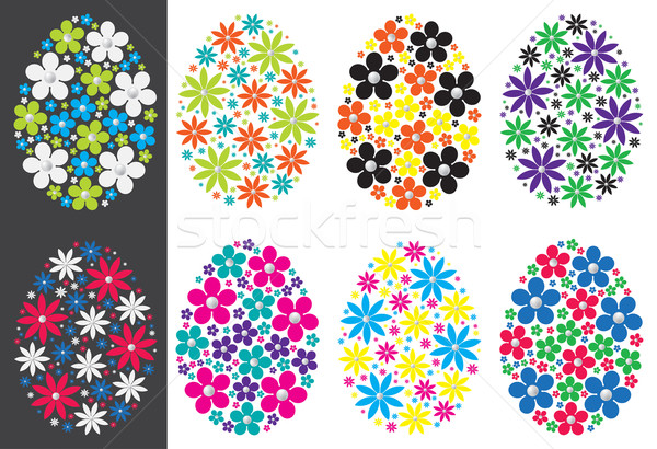 Daisy Easter eggs in vector format. Stock photo © piccola