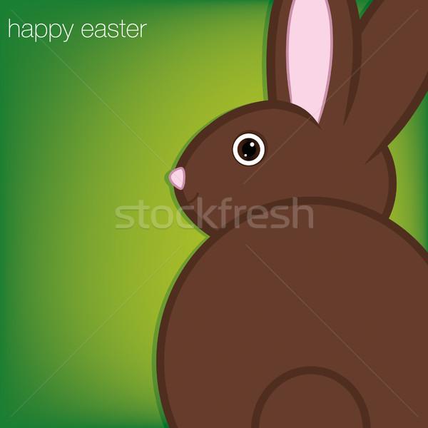 Easter Bunny kaart vector formaat papier gezicht Stockfoto © piccola