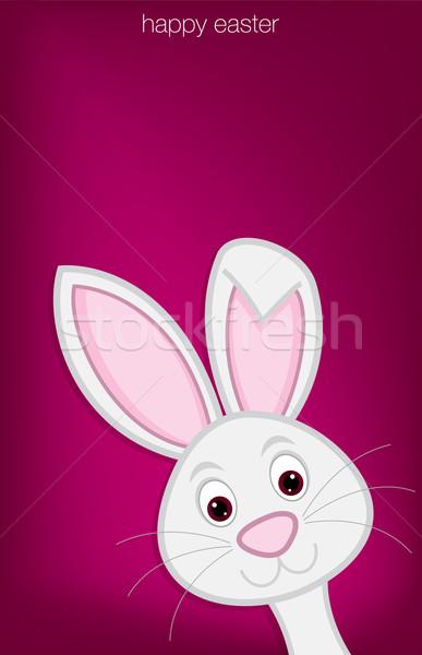 Stock fotó: Rejtőzködik · húsvéti · nyuszi · kártya · vektor · formátum · papír