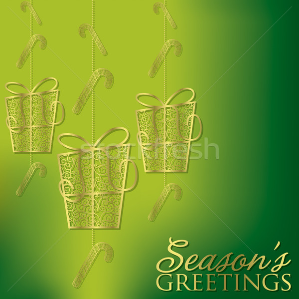 Formal Christmas filigree card in vector format. Stock photo © piccola