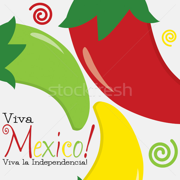 Viva Mexico (Independence Day) card in vector format. Stock photo © piccola