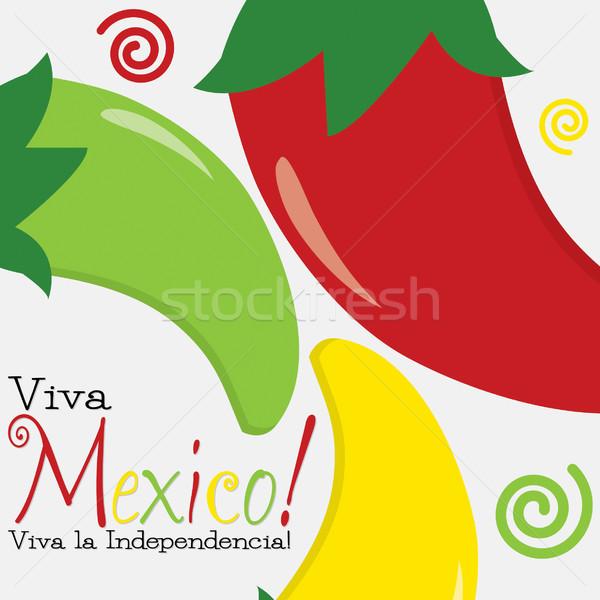 Meksika gün kart vektör format gıda Stok fotoğraf © piccola