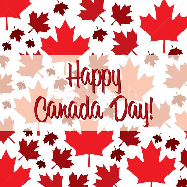 Boldog Kanada nap kártya vektor formátum Stock fotó © piccola