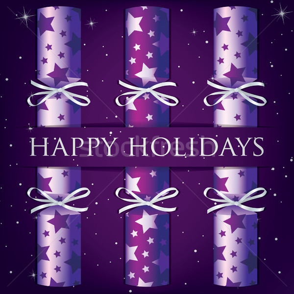 Happy Holidays star cracker card Stock photo © piccola
