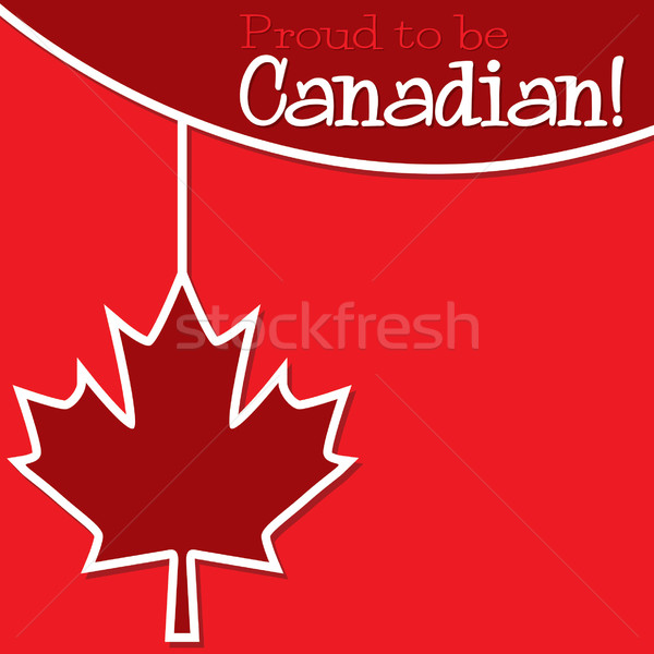 Canada Day string card in vector format. Stock photo © piccola