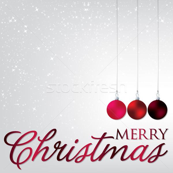 Elegáns csecsebecse karácsonyi üdvözlet vektor formátum üveg Stock fotó © piccola