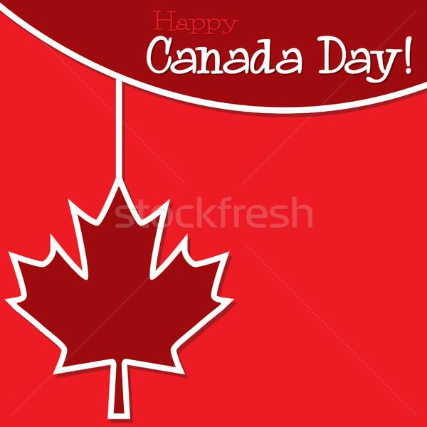 Kanada nap fonal kártya vektor formátum Stock fotó © piccola