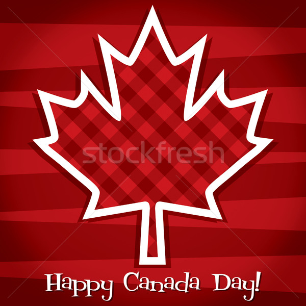 'Happy Canada Day' card in vector format. Stock photo © piccola
