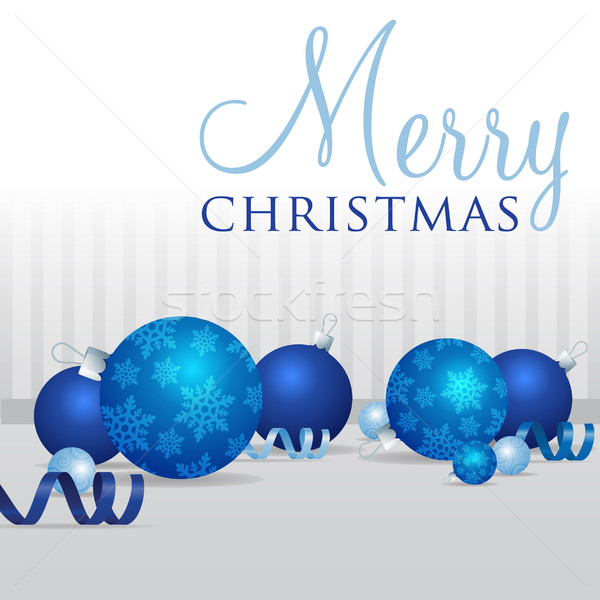 Scatter bauble card in vector format. Stock photo © piccola