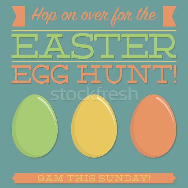 Retro style Easter typographic card in vector format. Stock photo © piccola