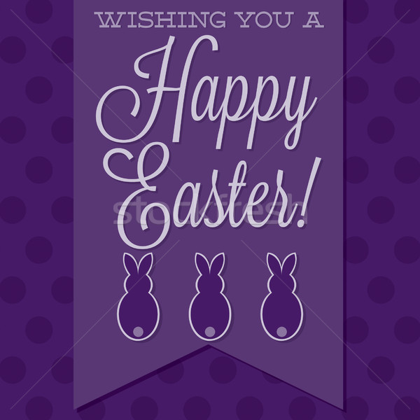 Retro style 'Happy Easter' card in vector format. Stock photo © piccola