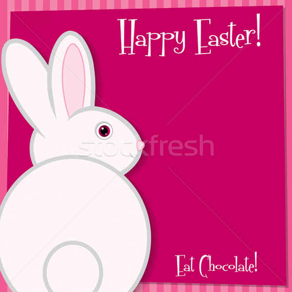 Funky Easter bunny card in vector format. Stock photo © piccola