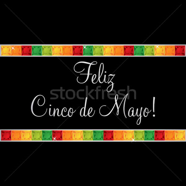 Feliz Cinco de Mayo (Happy 5th of May) gem card in vector format Stock photo © piccola