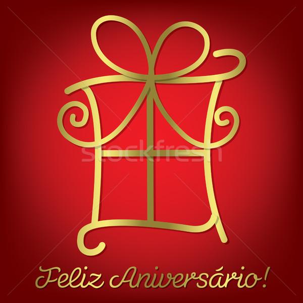 Fényes boldog születésnapot kártya vektor formátum papír Stock fotó © piccola