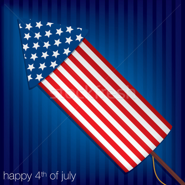 Independence Day cracker card in vector format. Stock photo © piccola