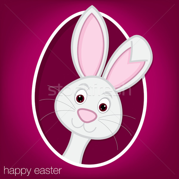 Easter bunny and egg card in vector format. Stock photo © piccola