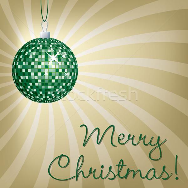 Stock fotó: Tükör · labda · vidám · karácsonyi · üdvözlet · vektor · formátum