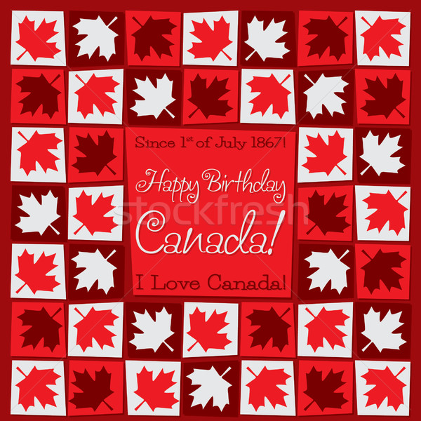 Mosaic Canada Day card in vector format. Stock photo © piccola