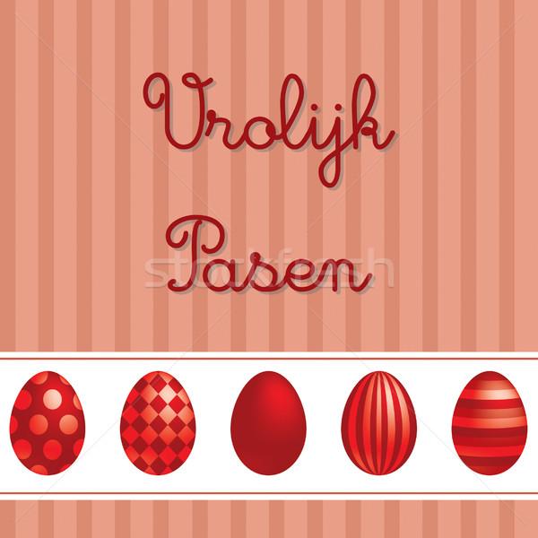 Holland vektor húsvét üdvözlőlap design tojás háttér Stock fotó © piccola