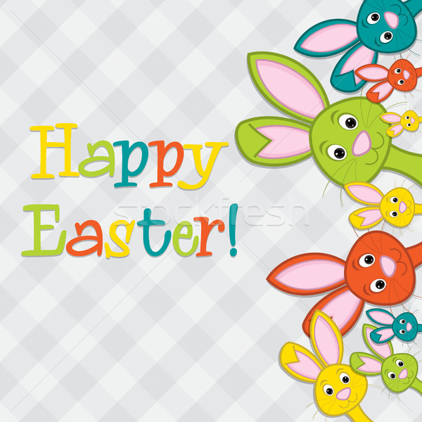 Rejtőzködik húsvét kártya vektor formátum papír Stock fotó © piccola