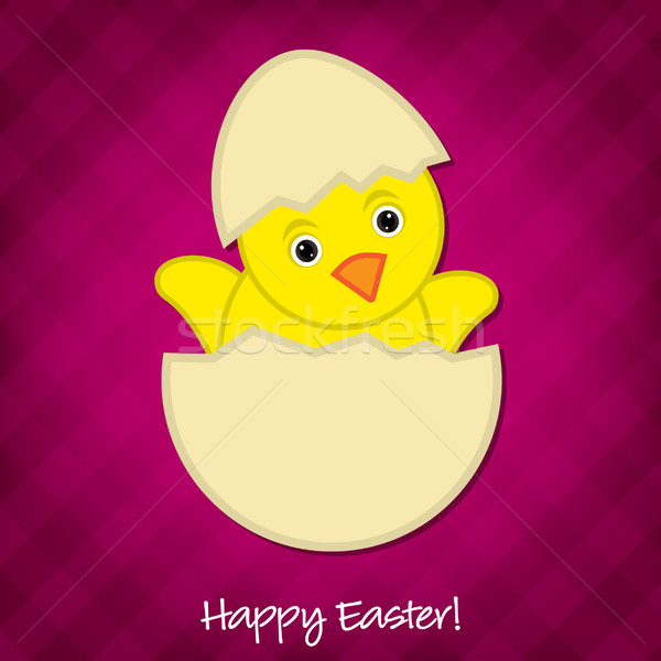 Baby Chick Easter card in vector format. Stock photo © piccola