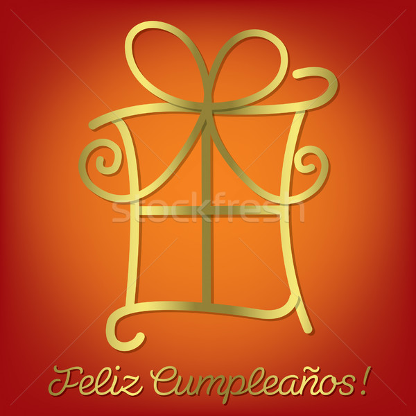Bright Spanish 'Happy Birthday' card in vector format. Stock photo © piccola