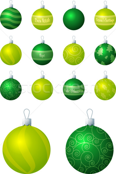Kalk groene christmas vector formaat bal Stockfoto © piccola