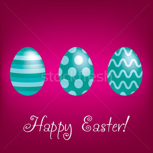Kellemes húsvétot fényes tojás kártya vektor formátum Stock fotó © piccola