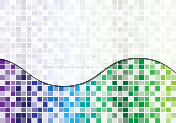Mosaic abstract business background in vector format Stock photo © piccola