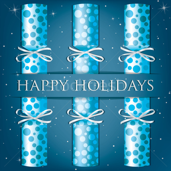 Happy Holidays spotty cracker card in vector format. Stock photo © piccola