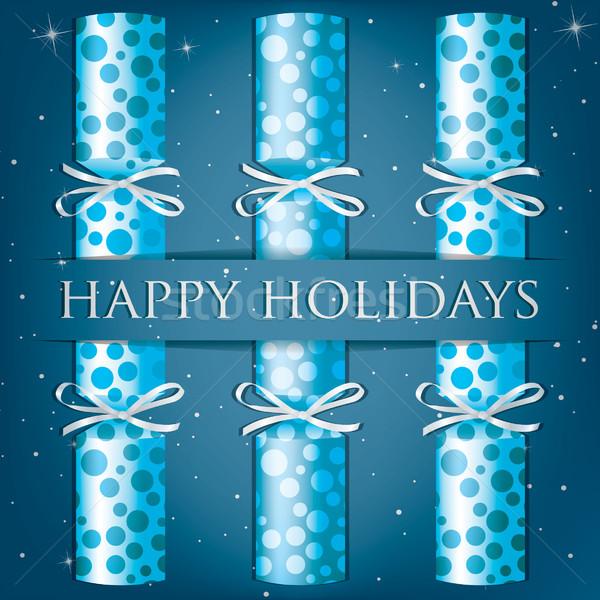 Feliz vacaciones manchado tarjeta vector formato Foto stock © piccola