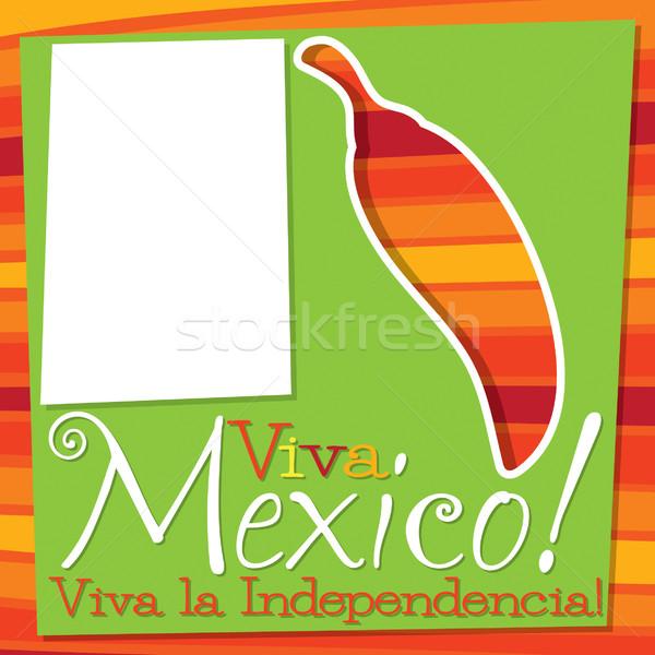 Cinco De Mayo chilli card in vector format. Stock photo © piccola