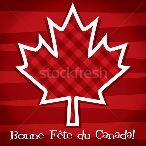 Stock fotó: Boldog · Kanada · nap · kártya · vektor · formátum