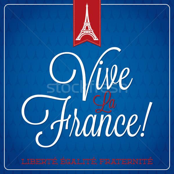 LA Franciaország Bastille nap kártya vektor Stock fotó © piccola