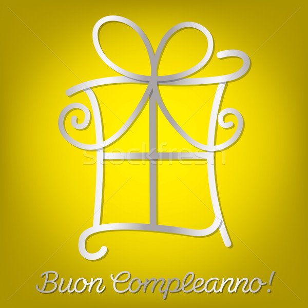 Bright Italian 'Happy Birthday' card in vector format. Stock photo © piccola