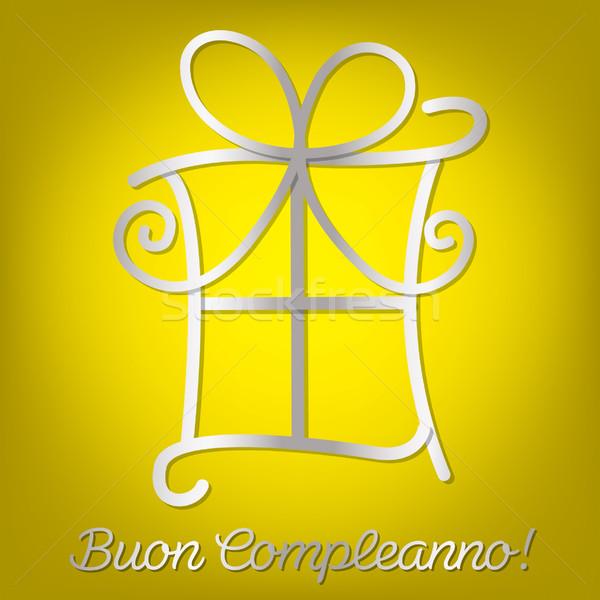 Bright Italian Happy Birthday card in vector format vector – Italian Birthday Card