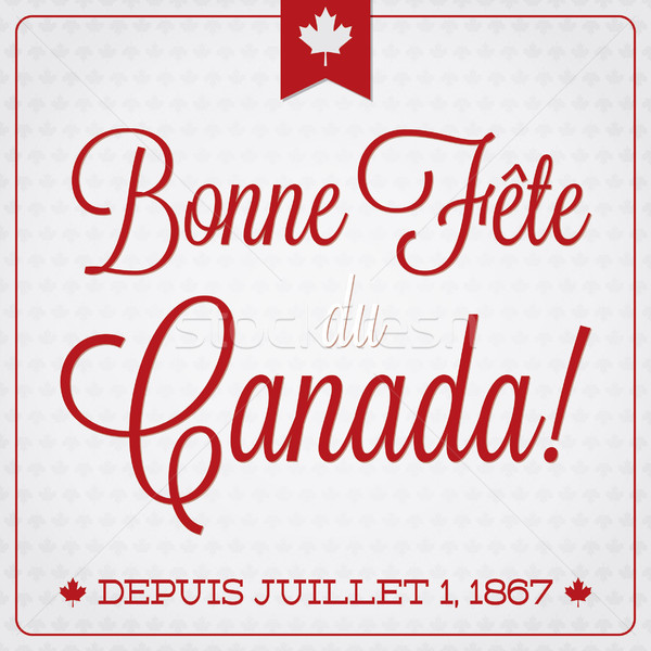 Happy Canada Day retro card in vector format. Stock photo © piccola