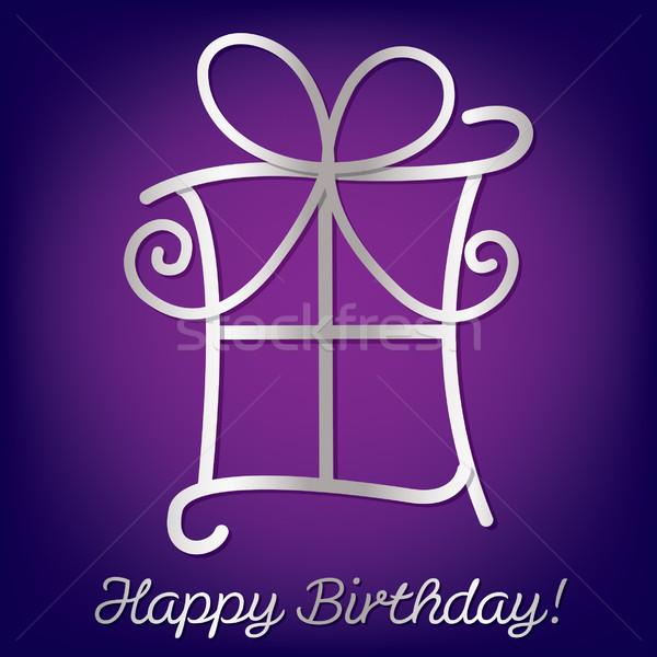 Fényes boldog születésnapot kártya vektor formátum textúra Stock fotó © piccola