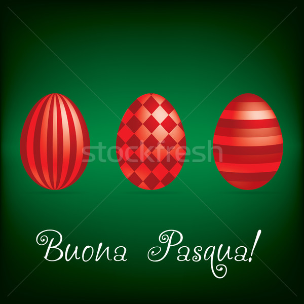Italiaans vrolijk pasen heldere ei kaart vector Stockfoto © piccola