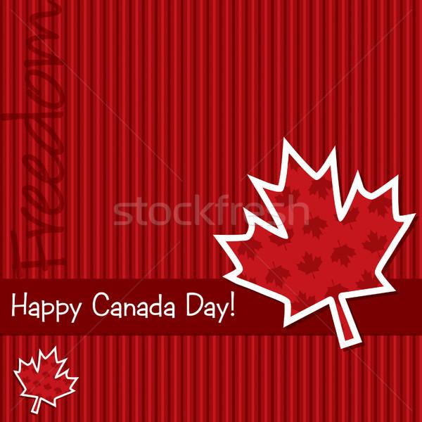 Boldog Kanada nap matrica kártya vektor Stock fotó © piccola